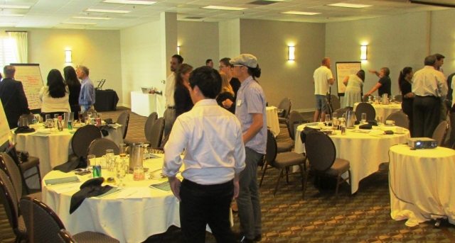 "Hospitality partners of the Oakland (CA) CVB interact with Gary's popular ""Flip-Chart Frenzy"" activity"