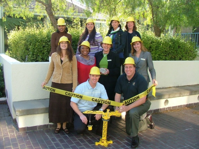 "The Portola Resort and Spa in Monterey, CA gets into the spirit of the training program's ""constructing sales"" theme"