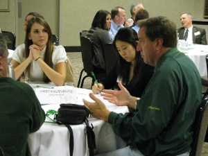 Small-group table discussions are an integral part of many of our learning programs