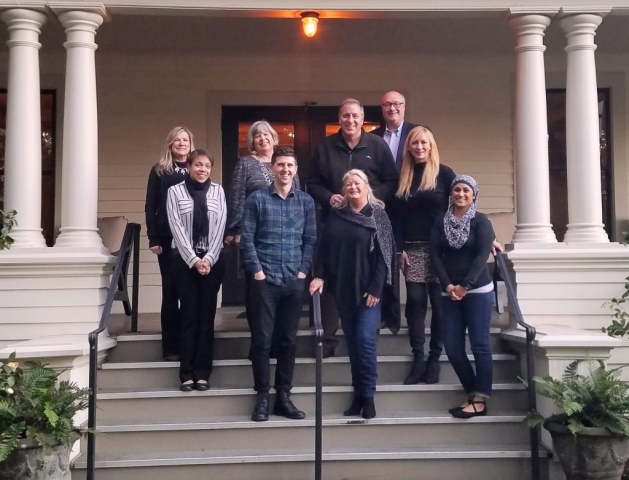 The Los Alcobas Resort in Napa Valley held their training retreat with Gary at the Beringer Winery